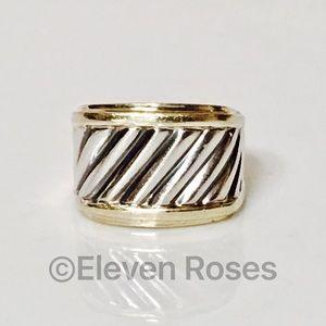 David Yurman Jewelry - David Yurman 925 14k Classic Cable Cigar Band Ring