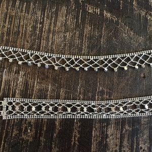 Jewelry - ❤️❤️Gorgeous choker & bracelet with crystals 💜💜