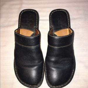Born Mules/Clogs Black Leather