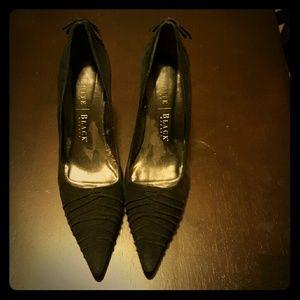 White House Black Market Sz 6 - Black Suede Heels
