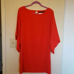 Zara Dresses & Skirts - Red - orange kimono sleeve mini dress