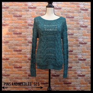 Pins and Needles(urban outfitters)Crochet Sweater