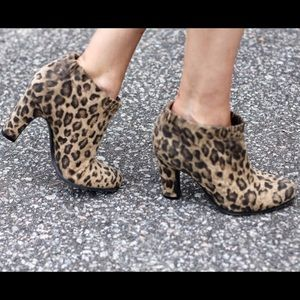 Sam & Libby Shoes - Sam & Libby Selena Leopard Ankle Boot
