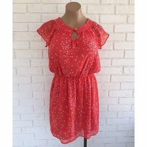 Chelsea & Violet Dresses & Skirts - ⚡️SALE⚡️Red orange bird print dress