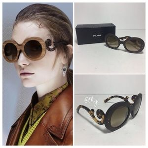 PRADA WOOD BAROQUE 55MM SUNGLASSES