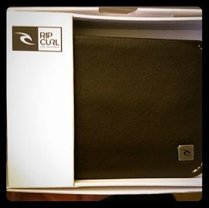 Rip Curl Other - Men's Rip Curl Brown Slim Leather Wallet
