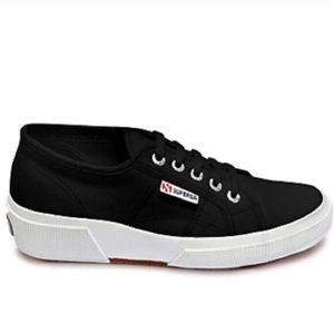 Superga Black Wedge Sneaker