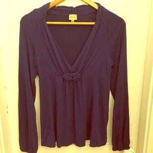Ella Moss Tops - Ella Moss long sleeve knot front shirt
