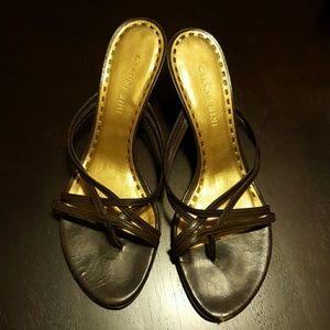 Brown Strap Heels - Size 6.5 - Gianni Bini