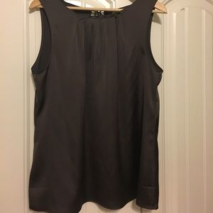 Loft brown sleeveless blouse