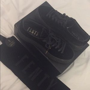 Fenty x Puma black & gold creepers 