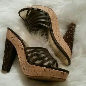 Colin Stuart Shoes - Colin Stuart brown platform sandals