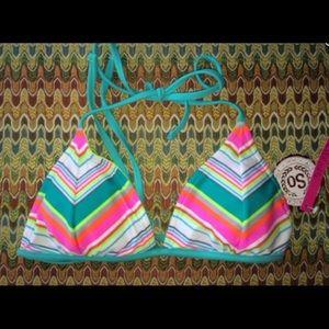 SO Striped Reversible Bikini Top