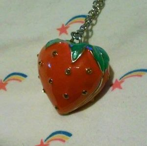 Kawaii Red Strawberry Necklace