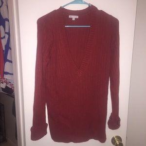 Red Gap v-neck sweater