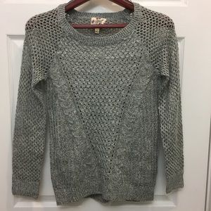 Hippie Rose Sweaters - NEW Hippie Rose Gray Cable Knit Pullover Sweater