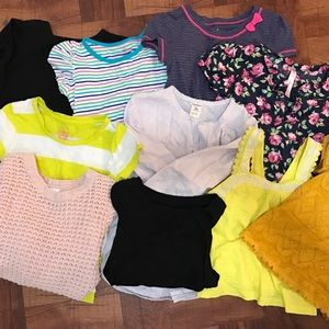 Mixed lot GAP - Cat&Jack - Carters 5t girls shirts