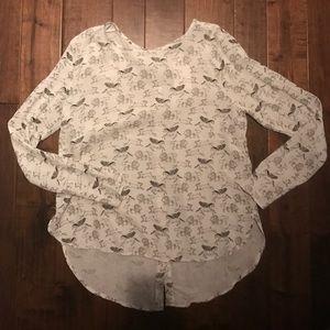 H&M hi-lo blouse