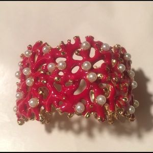 Kenneth Jay Lane Coral Reef Bracelet Cuff
