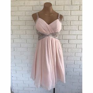 Little Mistress Dresses & Skirts - ⚡️SALE⚡️NWT blush sequin short prom dress