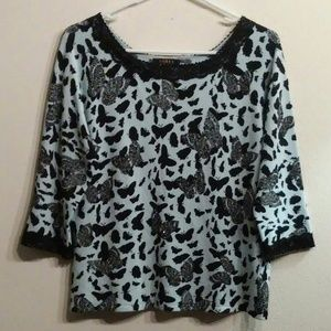 Evolution by Cyrus Stretchy Knit Top Sz. XL