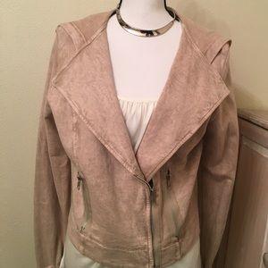 Copper Key Jackets & Blazers - Copper Key hooded Moto jacket