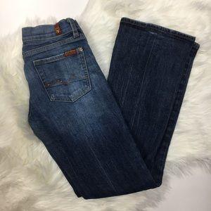 7 For All Mankind Denim - 7 for all mankind rhinestone bootcut medium jeans