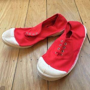 Bensimon Shoes - Bensimon French Canvas Sneakers - Red