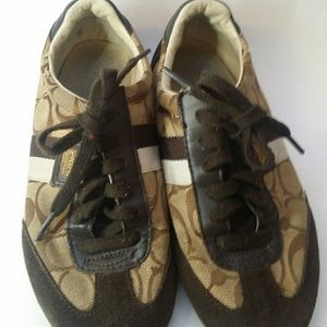 Coach Shoes - COACH BROWN SIGNATURE TENNIS SHOES