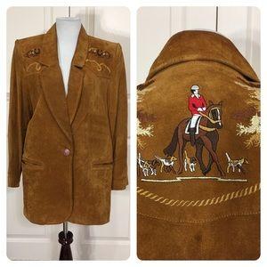 Vintage Cedars Suede embroidered jacket