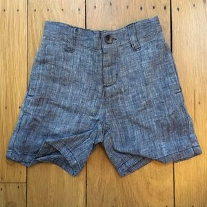Janie and Jack Other - Janie & Jack Chambray Linen Shorts