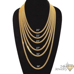 1763fc60e98775 galleria of gold Jewelry | 6mm Gold Plated Miami Cuban Link Chain ...