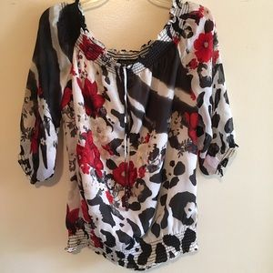 White House Black Market Tops - 🎱 Lowball Offer Me-WHBM - On/Off Shoulder Blouse
