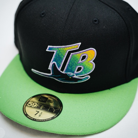 5990f2ecad9 New Era 59FIFTY Tampa Bay Devil Rays Fitted Hat