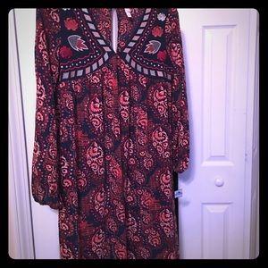 Exhilaration  Dresses & Skirts - Exhilaration/ Target boho dress mid length L
