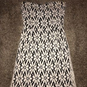 lace fitted mini dress