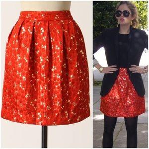 Anthropologie Dresses & Skirts - Anthropologie Lauren Moffatt Crimson Bubbles Skirt