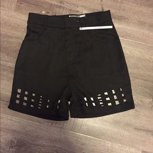 Nasty Gal Pants - Rehab cutout shorts NWT