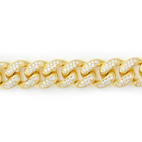 galleria of gold  Other - 18mm Iced Out Cuban link chain