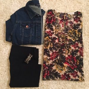 Pleione Nordstrom Rack floral tunic