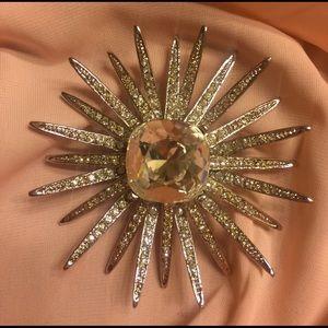 Kenneth Jay Lane Jewelry - Kenneth Jay Lane Swarovski Crystal Starburst Pin