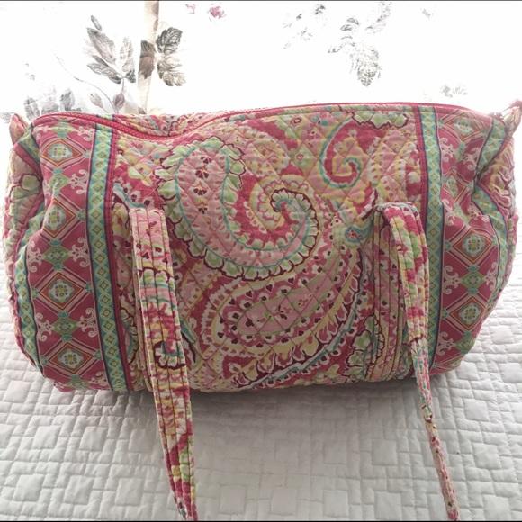 5f3cae9b9c5c Vera Bradley small duffle bag Capri Melon paisley