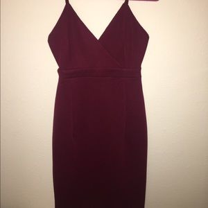 Beautiful burgundy spaghetti strap dress
