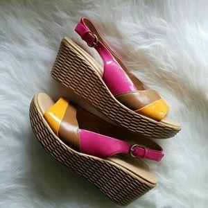 """Naturalizer Shoes - NATURALIZER """"Ladell"""" Wedge Platform Sandals"""