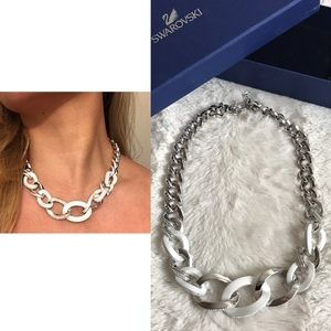 Swarovski Jewelry - SWAROVSKI MONTAIGNE CHAIN LINK NECKLACE WHITE