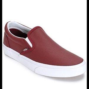 vans perforated slip on sneaker.