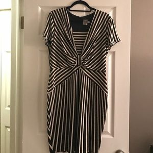 Taylor Dresses Dresses & Skirts - Taylor Black and Cream Striped Dress