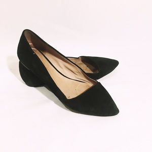 MADEWELL black suede flats