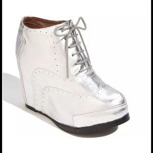 Jeffrey Campbell Shoes - Jeffrey Campbell Bonnie Metallic Wedge Bootie Shoe