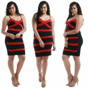 Dresses & Skirts - Plus size red and black dress 1x 2x 3x